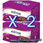 2 กล่อง 30 ซอง Active Collagen Tripeptide 10000mg คอลลาเจนผง ไตรเปปไทด์ 10000 ผิวขาวใส ส่งฟรี EMS