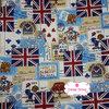 ผ้าคอตตอนไทย 100% 1/4 ม.(50x55ซม.) ลายอังกฤษ