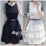 Lady Belle Striped and Layered Dress