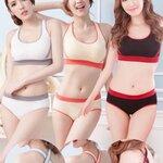 ✿ VINECO Japan-Korea รุ่นหลังไขว้ ✿ +กางเกงในไซส์สะโพก36-38 อกมีฟองน้ำถอดออกได้ // โชว์ได้สีสรรรูปแบบทันสมัย สายบ่ากุ๊นสี เซ็กซี่หลังไขว้
