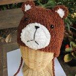 หมวกไหมขนแกะ หมีสีน้ำตาล รอบหัว 48 ซม.