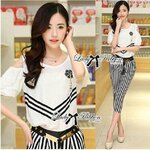 Lady Elizabeth Coco Chanel Striped Set