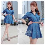 Denim Dress Shirt wt Belt