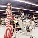 Lovely Stripy Long Softly Knit Maxi Dress by Seoul Secret