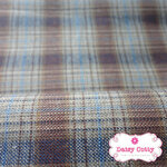 ผ้าทอญี่ปุ่น 1/4เมตร พื้นสีน้ำตาลครีม