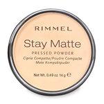 Rimmel Stay Matte Pressed Powder #Transparent แป้งไม่ผสมรองพื้น ควบคุมความมันบนใบหน้าได้ยาวนาน 12 ชม.