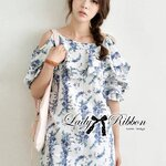Lady Paully Blooming Bouquet Cut-Out Dress