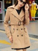 พร้อมส่ง ::MO241:: เสื้อกันหนาวแฟชั่น เสื้อคลุม ผ้าเนื้อดีมาก แบบน่ารัก เหมือนแบบ สีกากี ไซต์ XL