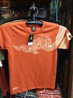 ลายเศียรพญานาค size XL (T-shirt LineTHAI : Na-Ka-head) สีอิฐ