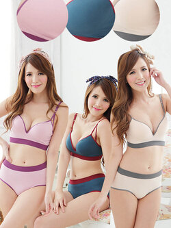 ✿ VINECO Japan-Korea รุ่นตะขอหลัง อกฟองน้ำ3มิติ ✿ (ยกทรง+กางเกงในไซส์ M) อกมีฟองน้ำบางหนาล่างดันอกอึ๋ม ยอดนิยมในญี่ปุ่น(สาวอกเล็ก) ช่วยอุ้มกระชับอกเล็กๆให้เบียดอึ๋ม