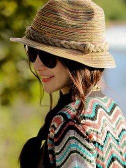 ✿ หมวกฟางเกาหลี ✿ ทำจากฝางฟอกสี ทนทาน ระบายอากาศ ไม่คัน ไม่อับ