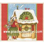 กระดาษสาพิมพ์ลาย สำหรับทำงาน เดคูพาจ Decoupage แนวภาำพ การ์ตูน นางฟ้าน้อย นักดื่มกาแฟตัวยง Christmas นี้เลือกดื่ม espresso (ปลาดาวดีไซน์) A5