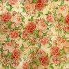 แนวภาพย้อนยุค ดอกไม้ดอกกุหลาบ บนพื้นโทนสีครีม ภาพกระจายเต็มแผ่น กระดาษแนพกิ้นสำหรับทำงาน เดคูพาจ Decoupage Paper Napkins ขนาด 33X33cm