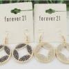 ##สินค้าหมดชั่วคราว## ของแท้ !!! ต่างหูยี่ห้อ Forever 21 โลหะสลัก สุดหรู อลังการ ในราคาส่ง ให้สคุณเริ่ดได้สไตล์สาว F21 มี 2 สี สีทอง และ สีเงิน