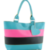 กระเป๋าหนังสะพาย สีสันสดใส พร้อมพวงกุญแจหัวใจน่ารักจ้า