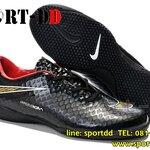 รองเท้าฟุตซอลNike-Hypervenom-Phantom-TF-Black-Goldไซส์ 39-44 งานระดับTop High Qulity 4A ดันทรง+ถุงผ้าฟรีEms
