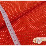 ผ้าคอตตอนไทยสีส้มลายจุด (ขนาด 50x55ซม)