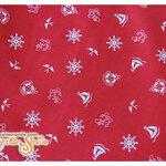 ผ้าคอตตอนไทยลายสมอสีแดงใหญ่ (ขนาด 50x55ซม)