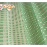 ผ้าจัดเซ็ตลายจุด ลายตารางสีเขียว ราคาพิเศษ (ขนาด 40 x 70 ซม. จำนวน 4 ผืน)