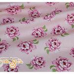 ผ้าคอตตอนไทยลายดอกไม้พื้นสีชมพู (ขนาด 50x55ซม)