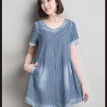 เสื้อยีนส์ตัวยาวสไตล์เกาหลี เนื้อผ้าดีสวมใส่สะบาย