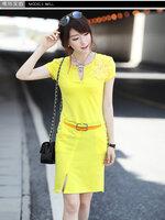 ีเดรสผ้ายืดสไตล์เกาหลี Designเก๋ๆ
