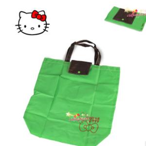 กระเป๋าคิตตี้ พับได้ สีเขียวสบายตา