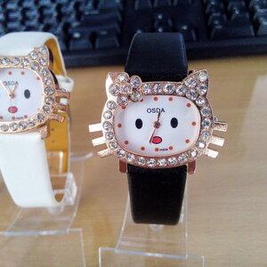 นาฬิกาแฟชั่น เหมียวน้อย ล้อมเพชร