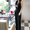 Lady Ribbon's Made Lady Nadine Classic Chic Jumpsuit in Black