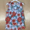 size 44-50 แบรนด์ next เสื้อแขนกุดคนอ้วน เสื้อแขนกุดผ้ายืดเนื้อดี เกรดห้าง ลายดอกไม้สีส้ม