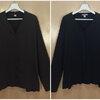 size54-58 แบรนด์ PORT/AUTHORITY เสื้อคลุมคนอ้วน ผ้ายืดเนื้อหนานุ่มมยืดได้ดี กระดุมหน้า สีน้ำตาลและสีดำ