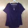 size52-60 แบรนด์ Faded glory เสื้อยืดคนอ้วน คอถ่วงเป็นชั้น คอหลังต่อผ้าลูกไม้เนื้อดี แขนในตัวสีดำ