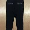 เอว36-38 แบรนด์ CANDA กางเกงทำงาน เอวยางดึงสวม ผ้า polyester&spandex กระบอกเล็ก สีดำ