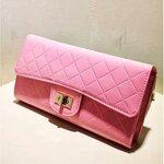 กระเป๋าแฟชั่น Luluhouse สีชมพู Clutch New Collection ใบเล็กน่ารัก สายสะพายโซ่ งานสวยมาก ๆ ค่ะ
