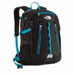 THE NORTH FACE - SURGE II WOMAN - BLACK/BLUE (ORIGINAL)