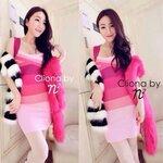 Cliona mand, Gradient Muliti Colour Dress
