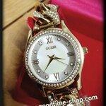 นาฬิกาแฟชั่นสายสีทอง หน้าปัดมุข สวยหรูมาก
