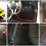 พรมปูพื้นรถยนต์ NEW JAZZ 2014 ลายกระดุม เต็มคัน (เข้ารูป 100%)