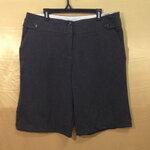 เอว37-41 แบรนด์ WORTHINGTON กางเกงคนอ้วน ผ้า cotton เนื้อดียืดนิดๆ ใส่สบาย ขาสามส่วนสีเทาเข้ม