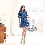 Chic denim Dress style korea