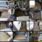 พรมปูพื้นรถยนต์ NEW CR-V 2013 ลายกระดุม (full option)