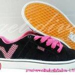 รองเท้าแวน vans Old Skool สีดำชมพู ข้อV(37-40)