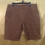 เอว38-40 แบรนด์ White Stag กางเกงคนอ้วน ผ้าคอตต้อนผสมสเปนเด็กซ์ ลายสก็อตสีน้ำตาลและน้ำตาลเข้ม