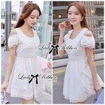 Lady Charlotte Gorgeous Little White Lace Dress