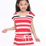 ขายส่งชุดกระโปรงเด็กหญิง size(110-150) kk55-129