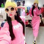 ชุดเซต Pinkpo สไตล์เกาหลี ผ้าหนา [ขายส่ง 360.-]