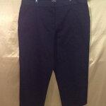 เอว40-42 แบรนด์ George กางเกงทำงานคนอ้วน ผ้าคอตต็อนผสมสเปนเด็กยืด สีดำ ขายาวเก้าส่วน