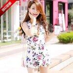 จั้มสูท partysu เกาหลี พิมพ์ลายดอกไม้ [ขายส่ง 550.-]
