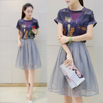 เสื้อผ้าแฟชั่นสไตล์เกาหลี มีขายแยกทั้งเสื้อ กระโปรง และทั้งเซต มีถึงไซส์XXL [ขายส่ง400-650.-*]