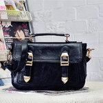 กระเป๋า maomaobag สีดำ ใบใหญ่ ใส่ของได้จุใจ พร้อมสายสะพายยาว